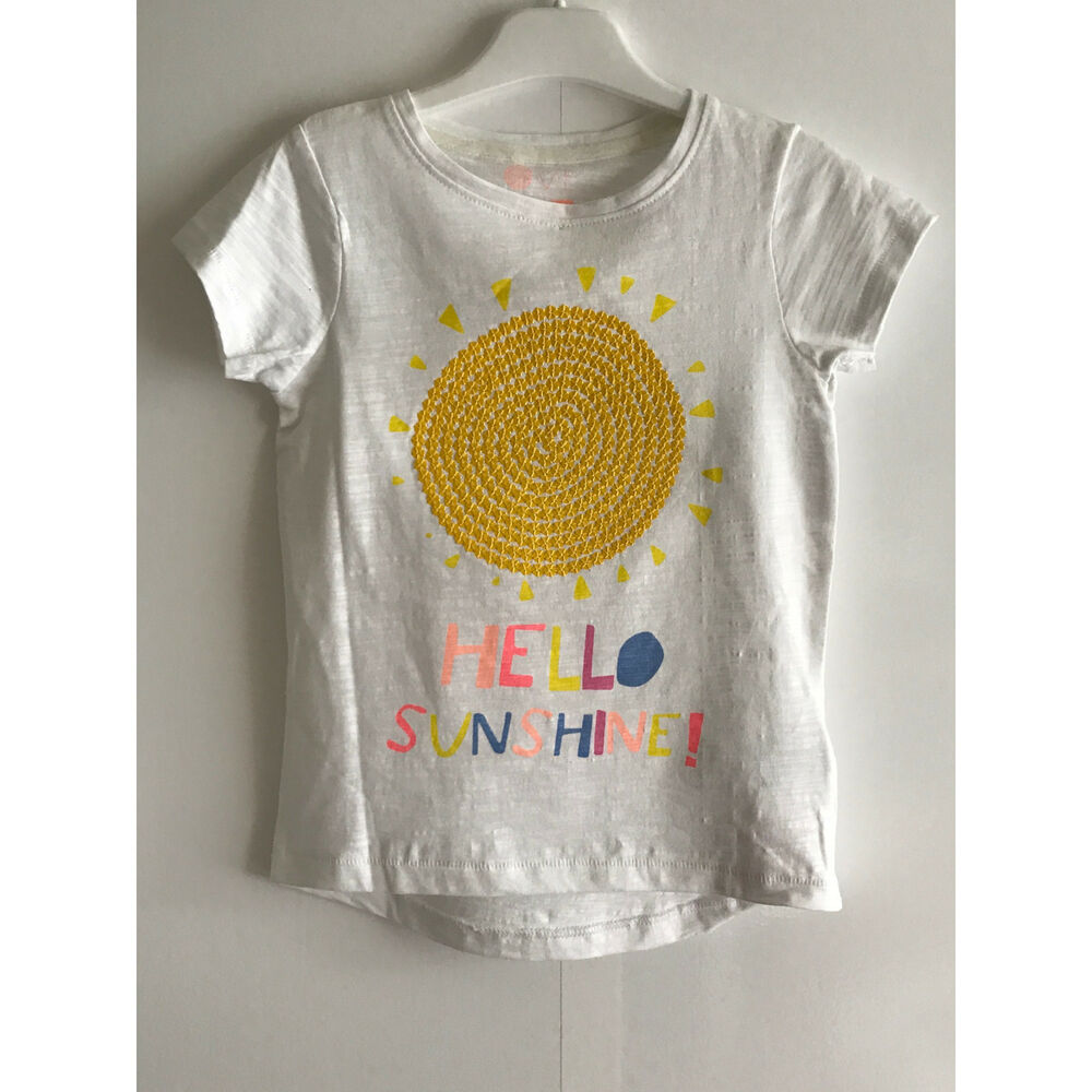 90d190a94194cd Details about MOTHERCARE GIRLS SUNSHINE SEQUIN T-SHIRT - Size UK | VARIOUS