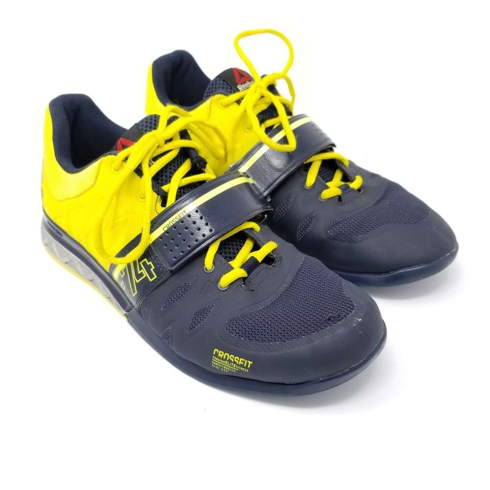 f82c6790df6 Details about Reebok Crossfit 2.0 Mens Size 11.5 Lifter Training Shoes Navy  Yellow M45395
