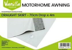 Drop 2ft 3In Vanilla Leisure Caravan and Motorhome Awning Draught Skirt With Eyelets 70cm