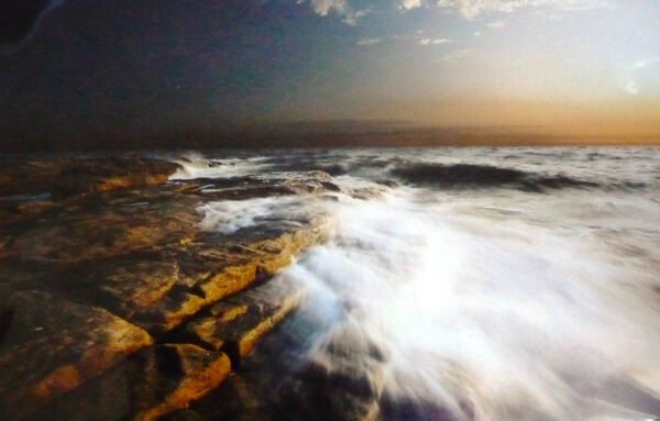 Atmospheric Seascape - Large Mounted Photograph - 50cm X 40cm