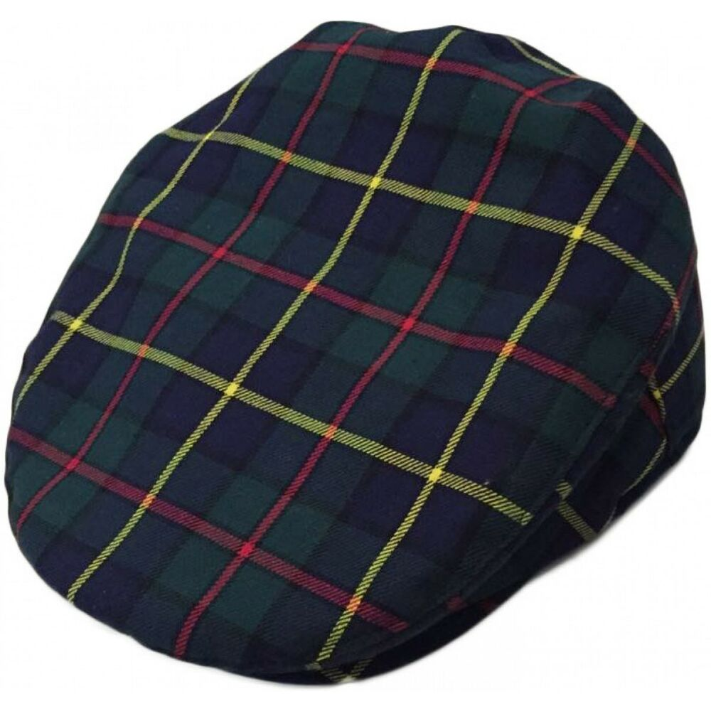 6f287708ad Details about Mens Navy Blue Scottish Tartan Flat Cap