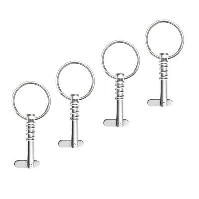 4pc Stainless Steel Quick Release Pins 1/4
