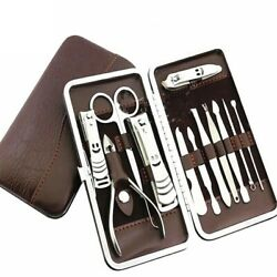 Kyпить 12PCS Pedicure / Manicure Set Nail Clippers Cleaner Cuticle Grooming Kit Case на еВаy.соm