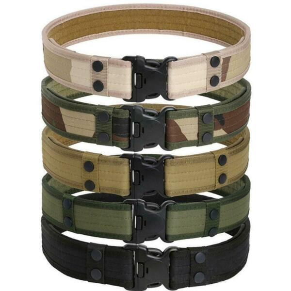 Outdoor Tactical Belt Men's Military Army Thicken Canvas Adjustable Waistband
