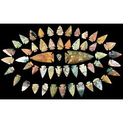 Kyпить *** 52 pc lot Flint Arrowhead OH Collection Project Spear Points Knife Blade *** на еВаy.соm
