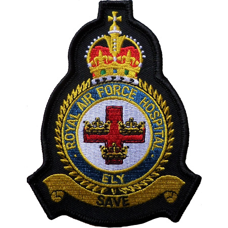 img-RAF Hospital Ely Royal Air Force MOD Crest Embroidered Patch