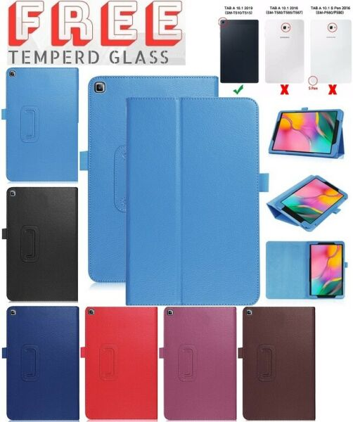 Tempered+ Leather Flip Case Stand Cover For Samsung Galaxy Tab A 10.1