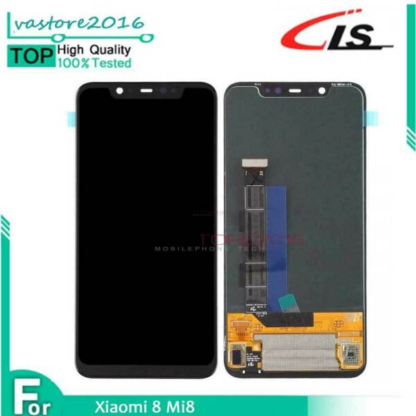 TOUCH SCREEN LCD DISPLAY PER XIAOMI MI8 MI 8 SCHERMO VETRO CCOMPLETO NERO OEM