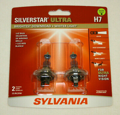 *NEW* Sylvania H7 Silverstar Ultra Car Headlight Bulb - 2 Pack FREE SHIPPING