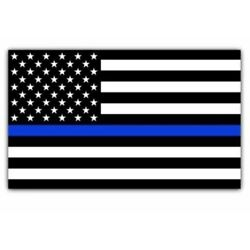 Blue Lives Matter Police USA American Thin Line Flag 5''x 3'' Car Decal Sticker