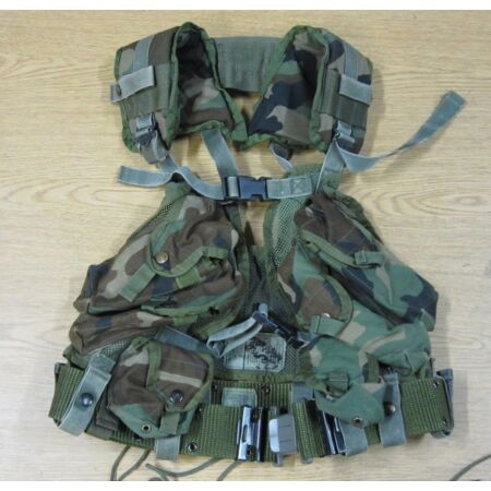 img-COMPLETE SET UP USGI ENHANCED ARMY TAC VEST WITH WEB BELT LOAD BEARING USA