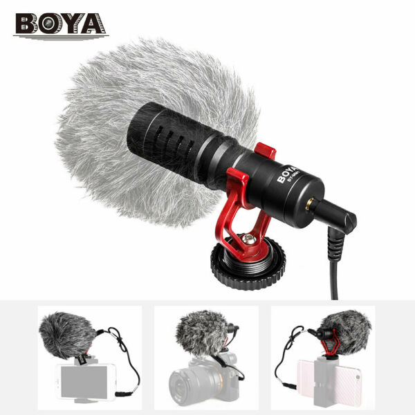 BOYA BY-MM1 Cardiod Shotgun Video Microphone MIC Video pour iPhone Samsung J8L3