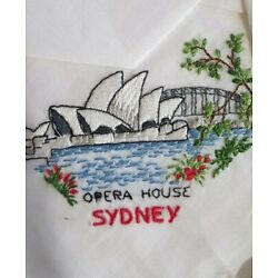 Kyпить VTG Embroidered Australian Cotton 4 Handkerchiefs KOOKABURRA/OPERA HOUSE/WATTLE на еВаy.соm