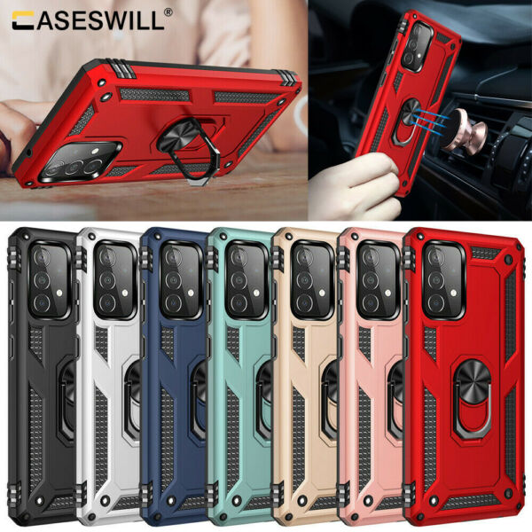For Samsung Galaxy A10e A70 A50 A40 A30 A20 A10 Case Shockproof Armor Ring Cover