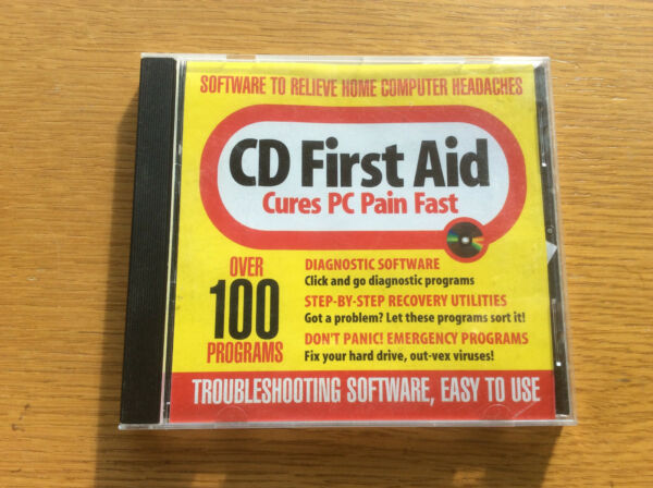 PC First Aid Magazine CD 100 Programs Recovery Diagnostic Speed Backup Utilities