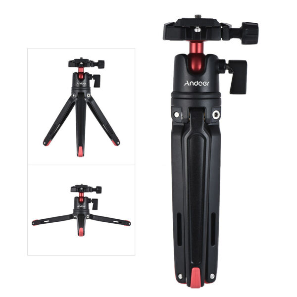 Andoer Mini Handheld Travel Tabletop Tripod Stand  with Ball Head for Canon D3Q4