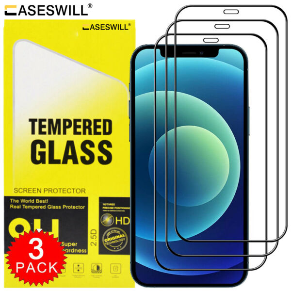 For iPhone 11 Pro X XS Max XR FULL COVER 21D Tempered Glass Screen Protector