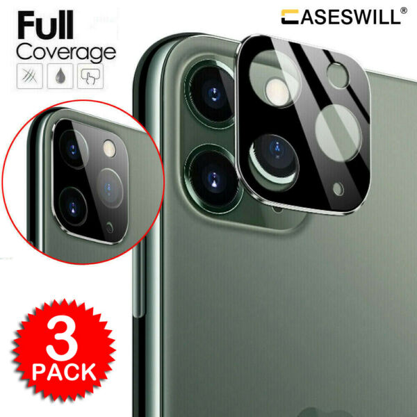 For iPhone 11 Pro Max FULL COVER 20D Tempered Glass Camera Lens Screen Protector