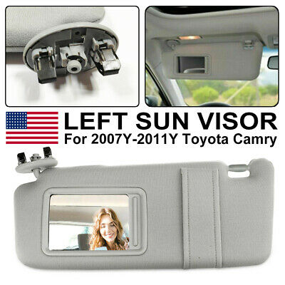 Left Driver Side Sun Visor for 2007-2011 Toyota Camry and HV Without Sunroof Hot