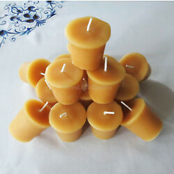 Kyпить 🐝 100% Beeswax Votives Candles / USA Emergency Honey Scent Long Burning BULK 🐝 на еВаy.соm