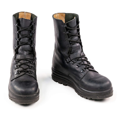 img-Genuine German Swiss Army Military Surplus Para Combat Paratrooper Leather Boots