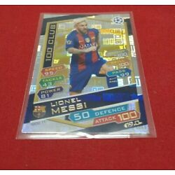 topps Match Attax Champions League 2016/17 - Lionel Messi  100 club