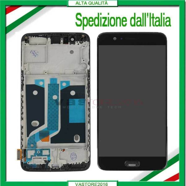 DISPLAY PER ONEPLUS 5 A5000 1+5 LCD VETRO SCHERMO TOUCH SCREEN COMPLETO +FRAME