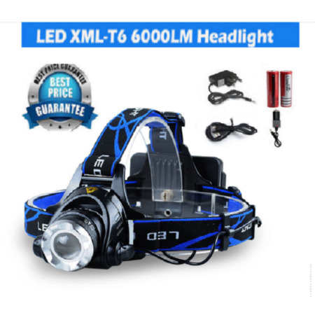 img-LED Headlight Torch 6000Lm Cree T6 Running Rechargeable Headlamp Head Light Lamp