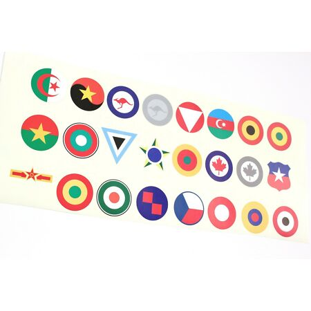 img-Air Force Roundels / Insignia Adhesive Vinyl Stickers Matt Finish