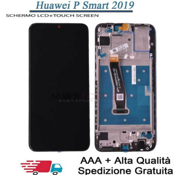 DISPLAY LCD +FRAME PER HUAWEI P SMART 2019 POT-LX1 LX2 TOUCH SCREEN SCHERMO