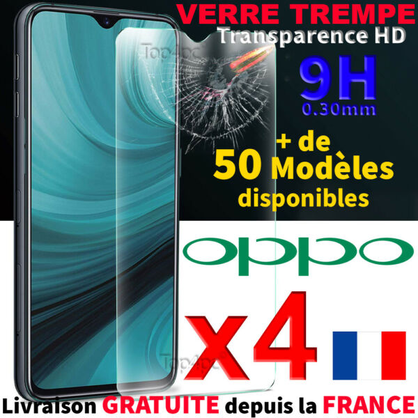 PROTECTION ECRAN VITRE VERRE TREMPE POUR OPPO TEMPERED GLASS SCRENN PROTECTOR