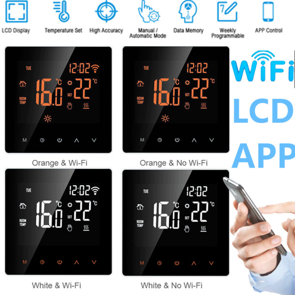 WiFi Smart Termostato Programmabile LCD Digitale Heating Regolatore Temperatura