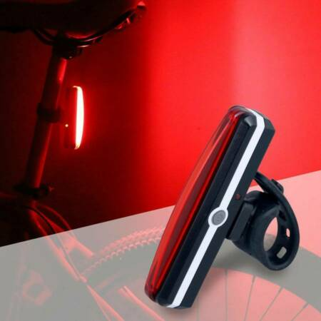 img-Safety COB LED Bicycle Bike Cycling Front Rear Tail Light USB Rechargeable Lamp