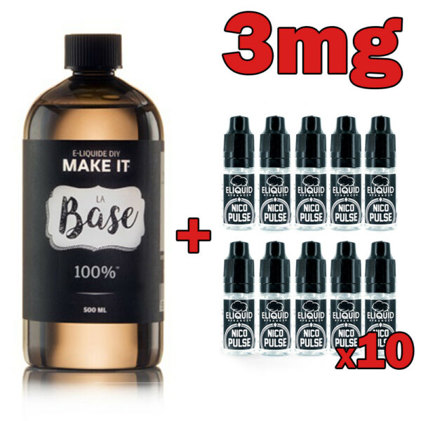 Pack DIY - Base 500ml + Boosters
