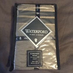 Waterford Fine Linens DIMITRIOS Euro Pillow Sham Charcoal New In Package 26x26