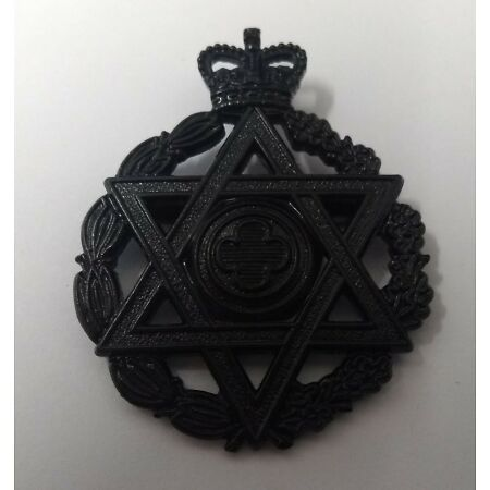 img-Genuine British Royal Army Jewish Chaplains' Department (RAChD) Hat Badge