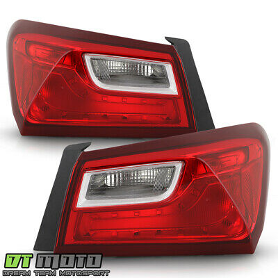 2016 2017 2018 2019 Chevy Malibu Non-LED Tail Lights Lamps Outer Pair Left+Right