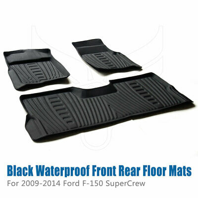 Waterproof Floor Mats Liners For 2009 2010 2011 2012 2013 2014 Ford F-150 Pickup