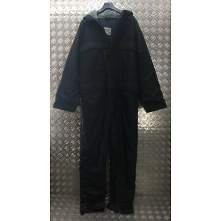 img-Genuine British Sioen Black Ripstop ECW Technician Coveralls Cold Weather NZH
