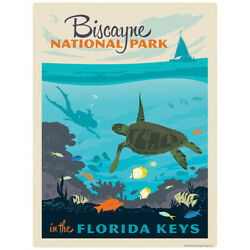 Biscayne National Park Florida Keys Decal 26 x 34 Peel and Stick Graphic