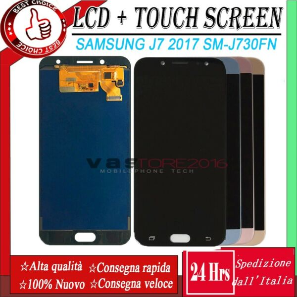 Display LCD + Touch Screen Samsung Galaxy J7 2017 J730 SM-J730F/ds Vetro Schermo