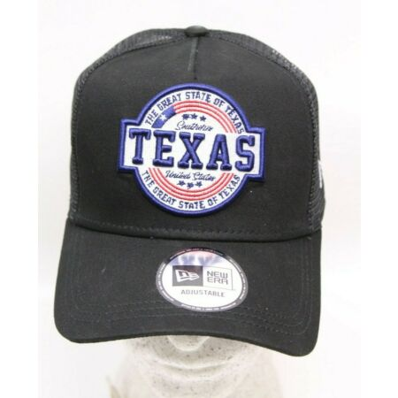 img-New Era Snapback A-Frame Trucker Cap Adjustable Southern Texas Black Cap New