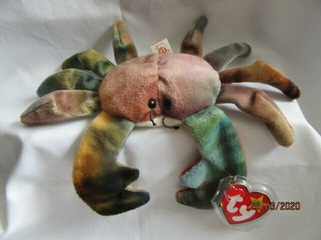 1996 TY Claude the Crab Beanie Baby - Super color | eBay