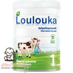 1 Can Loulouka Organic Stage 1 Infant Powder Formula, 900g - With DHA