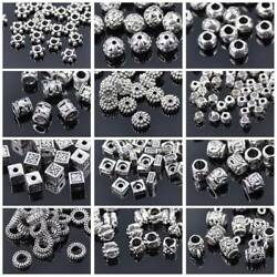 Kyпить 50pcs Tibetan Silver Metal Loose Spacer Craft Beads lot Wholesale Jewelry Making на еВаy.соm