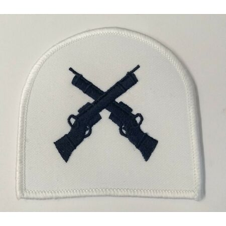 img-Genuine British Royal Navy White Qualification Marksman Badge All Rates ASPS34