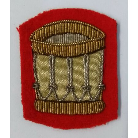img-Genuine British Military Braided Drummer Drum Major Badge on Scarlet ASPS43