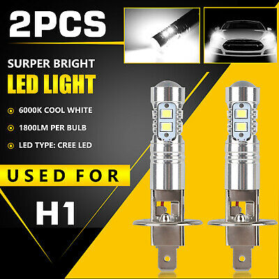 Xenon H1 LED Halogen Headlight Bulbs 6000K High Low Beam Light 100W Ultra White
