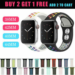 Kyпить Silicone Sport Replacement Band 40mm 44mm For Nike+ Apple Watch Series SE 6 5 4 на еВаy.соm