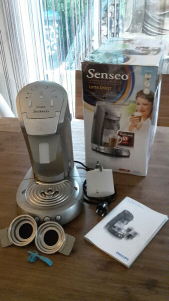 Philips HD7852 Senseo® Latte Select Kaffeepadmaschine titan silber**